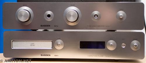 Sugden Sugden A21a versterker (pure klasse A) gecombineerd met de CD21 cd-speler