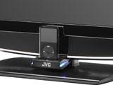 JVC P-serie met iPod dock detail
