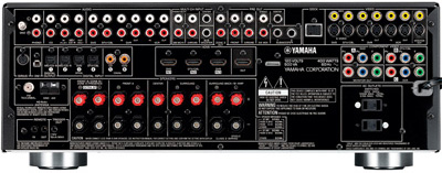 Yamaha RX-V863 av-receiver achterzijde