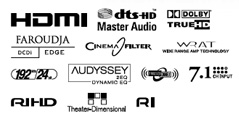 Onkyo TX-SR606 AV-receiver logos