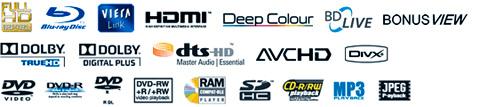 Panasonic DMP BD 50 logos