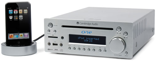 cambridge audio one: cd-receiver met ipod dock
