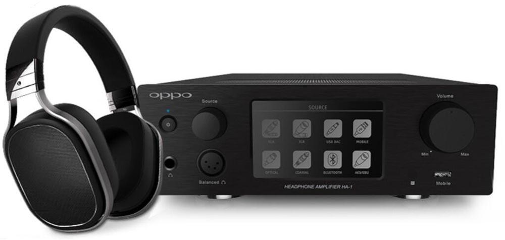 oppo ha-1 hoofdtelefoon-versterker met de pm1